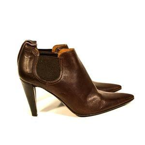 L'Autre Chose Brown Leather Ankle Boots